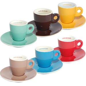 Brand new coloured cups: a